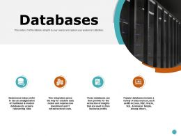 Databases Servers Ppt Powerpoint Presentation Professional Slide Download