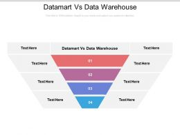 Datamart Vs Data Warehouse Ppt Powerpoint Presentation Gallery Layout Cpb