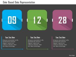 Date Based Data Representation Flat Powerpoint Design
