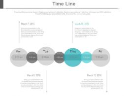 Day Based Linear Timeline For Business Data Powerpoint Slides