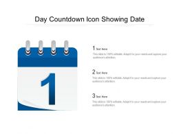 Day Countdown Icon Showing Date