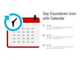 Day Countdown Icon With Calendar