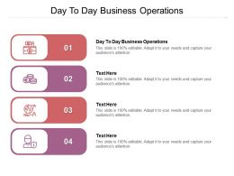 Day To Day Business Operations Ppt Powerpoint Presentation Pictures Styles Cpb