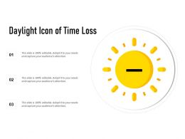 Daylight Icon Of Time Loss