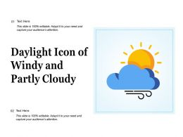 Daylight Icon Of Windy And Partly Cloudy