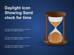 Daylight Icon Showing Sand Clock For Time
