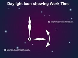 Daylight Icon Showing Work Time
