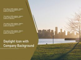 Daylight Icon With Company Background