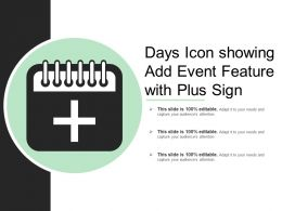 Days Icon Showing Add Event Feature With Plus Sign