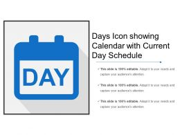 Days Icon Showing Calendar With Current Day Schedule