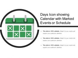 Days Icon Showing Calendar With Marked Events Or Schedule