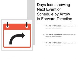 Days Icon Showing Next Event Or Schedule By Arrow In Forward Direction