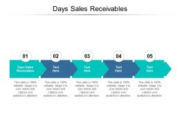 Days Sales Receivables Ppt Powerpoint Presentation Infographic Template Samples Cpb