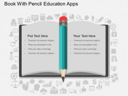 db Book With Pencil Education Apps Flat Powerpoint Design
