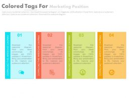 db_four_staged_colored_tags_for_marketing_position_flat_powerpoint_design_Slide01