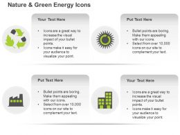 Db Green Energy Symbols With Text Boxes Ppt Icons Graphics