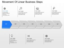 db Movement Of Linear Business Steps Powerpoint Template