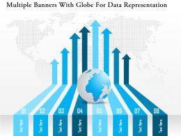 Db Multiple Banners With Globe For Data Representation Powerpoint Template