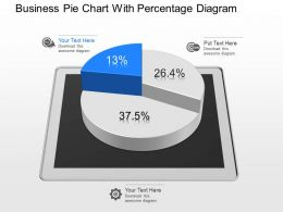 Dc Business Pie Chart With Percentage Diagram Powerpoint Template