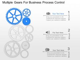 dc Multiple Gears For Business Process Control Powerpoint Template