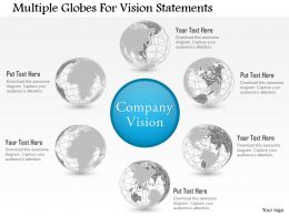 Dc Multiple Globes For Vision Statements Powerpoint Template