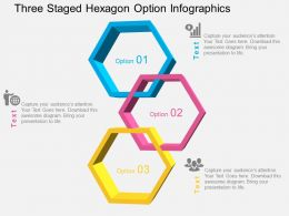 Dc Three Staged Hexagon Option Infographics Flat Powerpoint Design