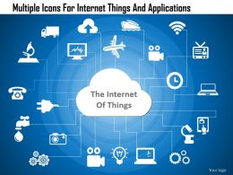 Dd Multiple Icons For Internet Things And Applications Powerpoint Template