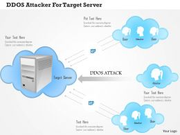 Ddos Attacker For Target Server Ppt Slides