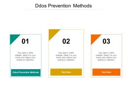 Ddos Prevention Methods Ppt Powerpoint Presentation Clipart Cpb