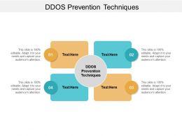 DDOS Prevention Techniques Ppt Powerpoint Presentation File Slideshow Cpb