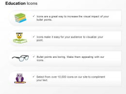 De Books Specks Owl Education Ppt Icons Graphics