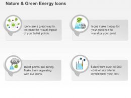 De Icons For Green Energy Production With Co2 Gas And Battery Ppt Icons Graphics