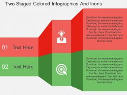 De Two Staged Colored Infographics And Icons Flat Powerpoint Design