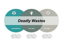 Deadly Wastes Ppt Powerpoint Presentation File Slide Cpb