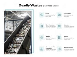 Deadly Wastes Services Sector Extra Processing Ppt Powerpoint Presentation File Picture