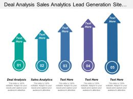 Deal Analysis Sales Analytics Lead Generation Site Conversion