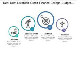 Deal Debt Establish Credit Finance College Budget Money