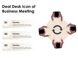 Deal Desk Icon Of Business Meeting
