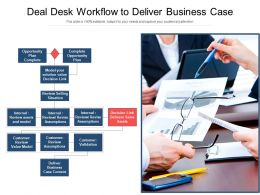 Deal Desk Workflow To Deliver Business Case