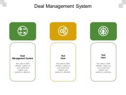 Deal Management System Ppt Powerpoint Presentation Slides Example Introduction Cpb