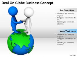 Deal On Globe Business Concept Ppt Graphics Icons Powerpoint