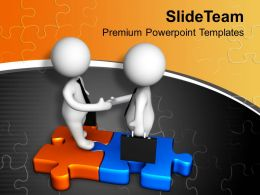 Deal On Puzzles Business PowerPoint Templates PPT Themes And Graphics 0213