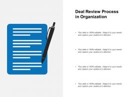 Deal Review Process In Organization