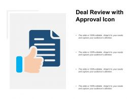 Deal Review With Approval Icon