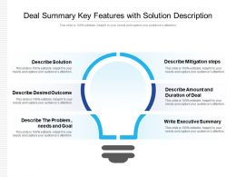 Deal Summary Key Features With Solution Description
