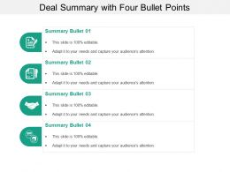 Deal Summary With Four Bullet Points