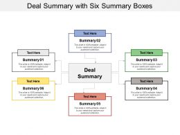 Deal Summary With Six Summary Boxes