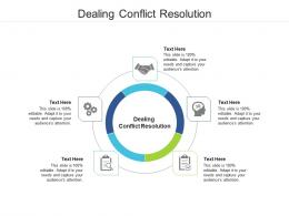 Dealing Conflict Resolution Ppt Powerpoint Presentation Model Show Cpb