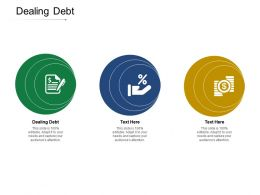 Dealing Debt Ppt Powerpoint Presentation Summary Example File Cpb