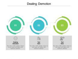 Dealing Demotion Ppt Powerpoint Presentation Ideas Slide Portrait Cpb